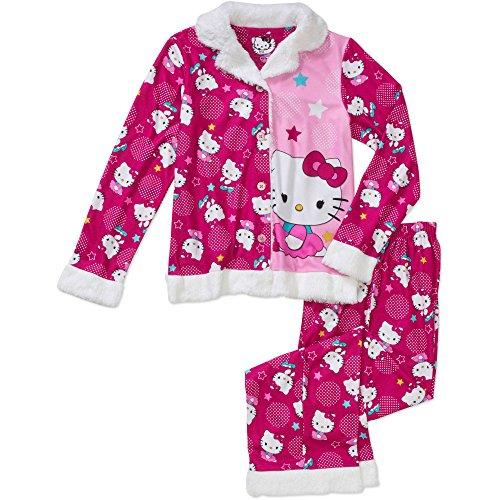 SANRIO Hello Kitty Girl's Coat Pajama (XS 4/5)