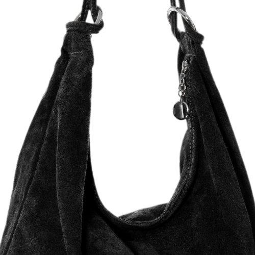 Shoulder Suede CASPAR TL617 Black TL617 Bag Women CASPAR x7qPqIX