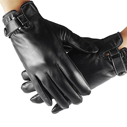 Leather Gloves Touchscreen Texting Driving