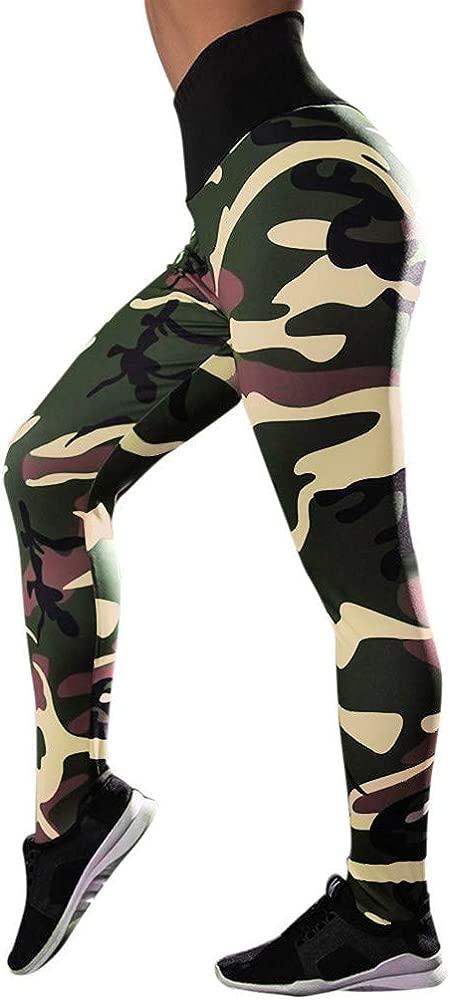 Pantalones Yoga Mujeres, ZODOF Pantalones Yoga Mujer Ancho Bolsillos Estampado Polainas de Yoga Impresas Deportes de Las Mujeres Pantalones Deportes ...