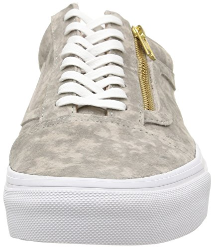 Vans Old Skool Zip Hombres Us 6 Grey Sneakers