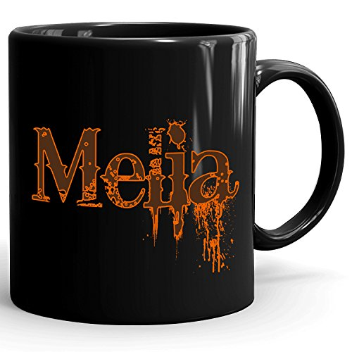 Melia Coffee Mug - Personalized Cup for Tea, Hot Chocolate, Milk - Best Gift for Women - 11oz Black Mug - Cowboys Design - Melia Ceramic