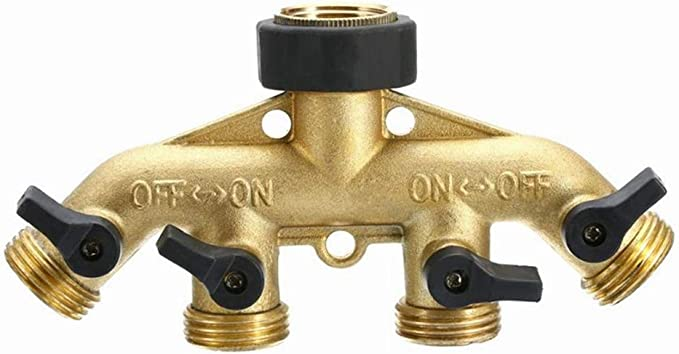 coût Wise Robinet De Jardin Connecteur Vannes Eau Système d/'irrigation HQ-métal 4 Way
