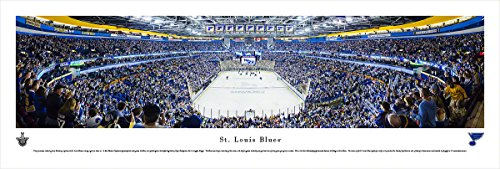 Saint Louis Blues   End Zone View At Scottrade Center   Panoramic Print