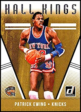 super popular 26dc5 c337c Amazon.com: 2018-19 Donruss Hall Kings #11 Patrick Ewing NM ...