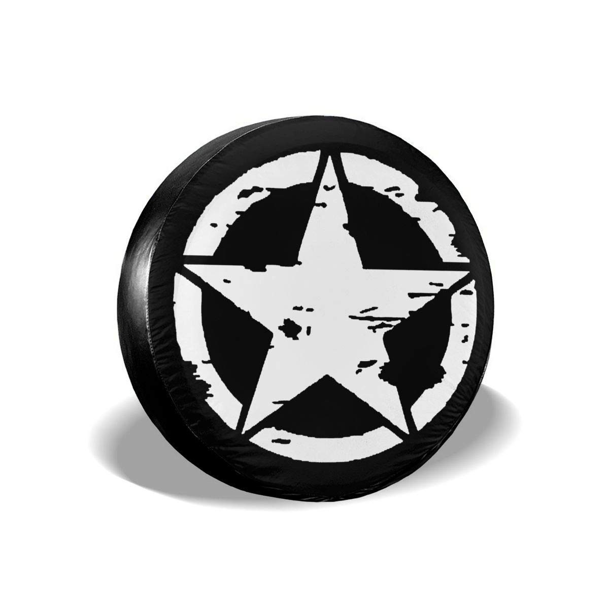 best/& Oscar Mike Jeep Military Star Polyester Universal Spare Wheel Tire Cover Wheel Covers Jeep Trailer RV SUV Truck Camper Travel Trailer Accessories 14 Inch