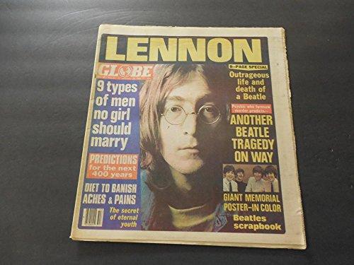 Globe Dec 30 1980 Lennon Dead; Giant Memorial - Fenton Globe