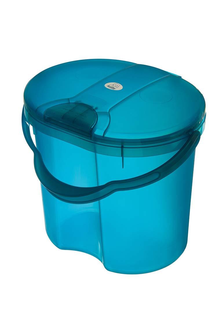 Rotho Baby Design Topline Translucent Nappy Pail, Blue Guzzie + Guss 200020209
