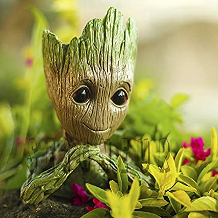 Seigneur Guardians Of Galaxy Baby Groot Flower Potpen Holder Wooden Look Pvc Marvel Avengers Infinity War Toy 2nd Generation