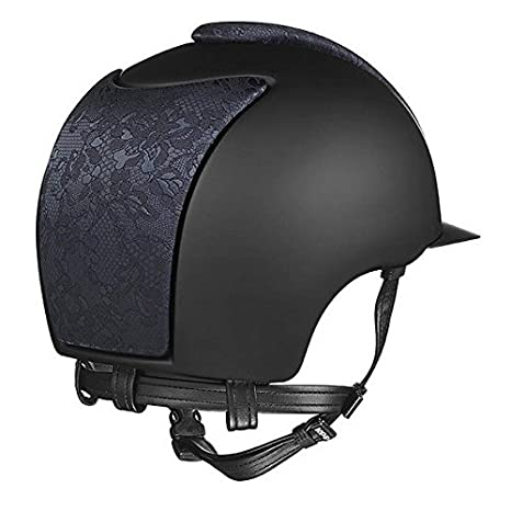 KEP ITALIA Cap Cromo Textile Negro con Seda Hecho Negro y Marco Swarovski Cascos Equitación: Amazon.es: Deportes y aire libre
