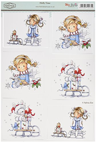 - Hobby House HHWS006 Wee Stamps Topper Sheet, 8.3 by 12.2-Inch, Holly Time