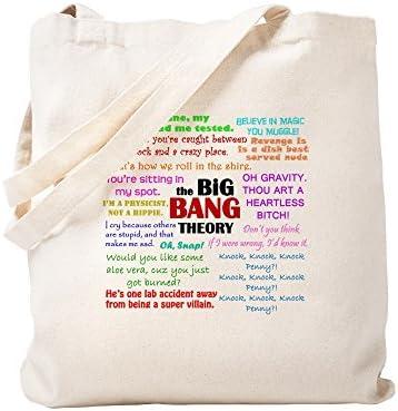 Nieuw Amazon.com: CafePress Big Bang Theory Quotes Natural Canvas Tote RL-97