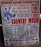 img - for Boxing Style Poster Country Music Cavalcade Of Stars A Gigantic Stage Spectacular. book / textbook / text book