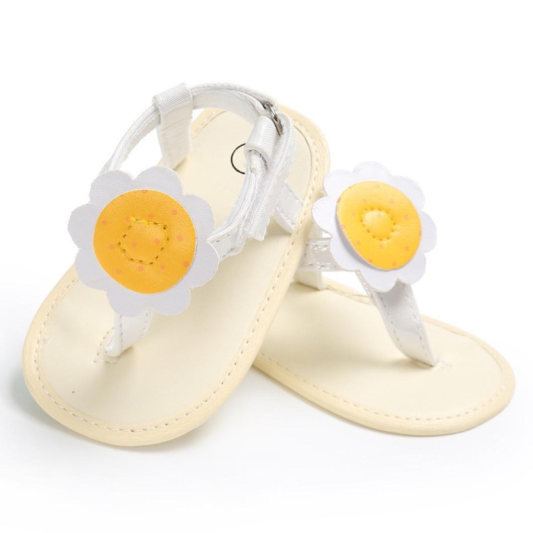 WARMSHOP Baby Girls Sun Flower Flip Flops Beach Summer Shoes Princess Flat Sandals