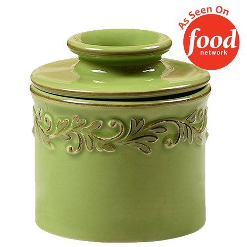 The Original Butter Bell Crock by L. Tremain, Antique Collection - Vert Green Vert Green Ceramic