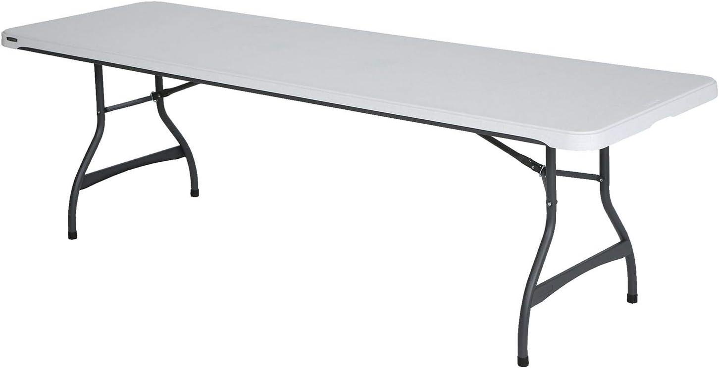 - Amazon.com: Lifetime 22980 Folding Utility Table, 8 Feet, White
