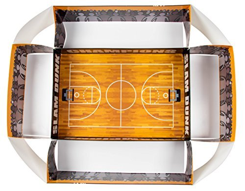Games Players Design with Court Large Stadium Style Snack Serving Box Disposable Serving Party Tray Basketball Themed Boys Birthday Parties 4 x 20 x 25.5 Inches Hoop