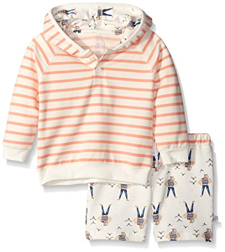 Rosie Pope Little Girls 2 Piece Sailor Hooded Sweatshirt and