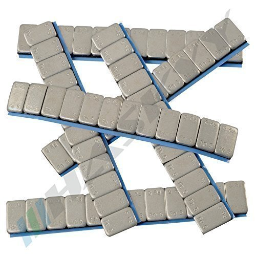 100 Balance weights 12x5g Adhesive weights 6KG Steel weights Adhesive strip 60g with TEAR-OFF EDGE zinc plated & plastic coated Haskyy