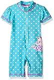Kiko & Max Baby Girls Full Body Rash Guard Swim Suit Coverall Bodysuit, Blue Mermaid, 3-6 Months
