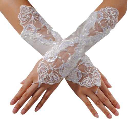 KINGSO Fingerless Gloves Wedding Costume