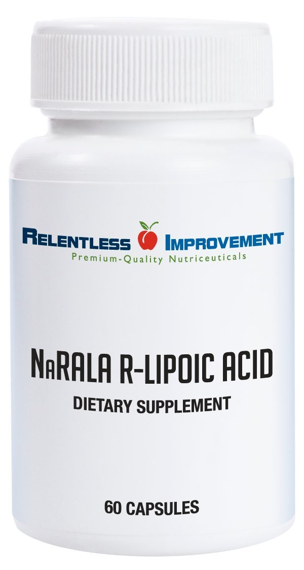 Relentless Improvement Na-R-Ala R-Alpha-Lipoic Acid 300mg Active from 375mg Total Fill