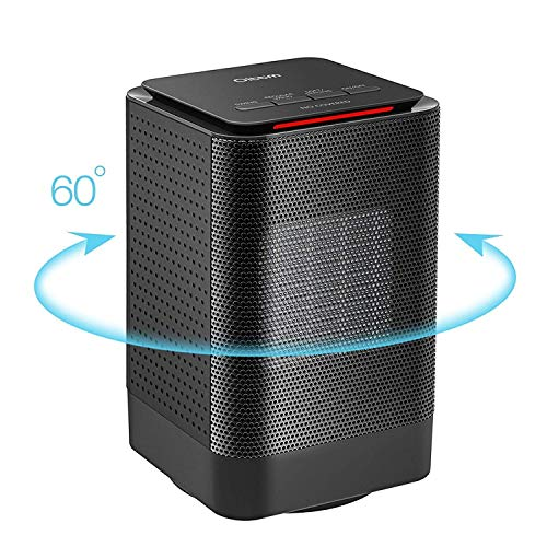 Oittm Portable Ceramic Heater, Electric Oscillating Heater Mini Space Heater Personal Heater Fan 450W/950W, Overheat Protection for Office and Home Indoor Use