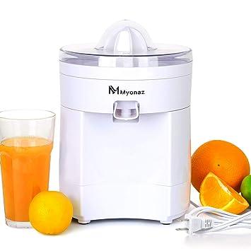 Exprimidor de zumo de cítricos de frutas con motor antigoteo/ultra silencioso para limón fresco naranja y limas zumo/blanco: Amazon.es: Hogar