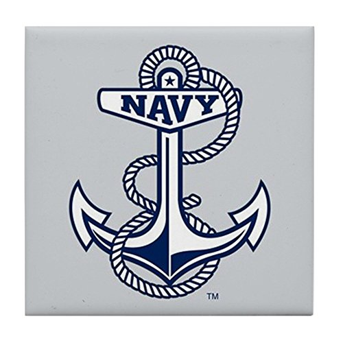 - CafePress - U.S. Naval Academy Anchor - Tile Coaster, Drink Coaster, Small Trivet