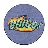 23.6'' Round Area Rug Anti-Skid Bingo Floor Mat Soft Carpet Home Decorate Office Chair Pile