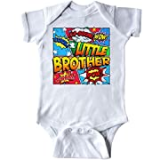 inktastic - Little Brother Comic Book Infant Creeper Newborn White