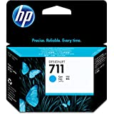 HP HEWCZ130A 711 Cyan Ink Cartridge, Cyan