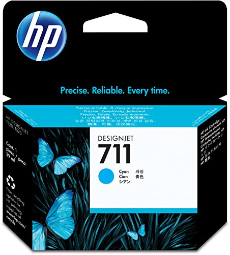 HP 711 29-ml Cyan Designjet Ink Cartridge (CZ130A) for HP DesignJet T120 24-in Printer HP DesignJet T520 24-in Printer HP DesignJet T520 36-in PrinterHP DesignJet printheads help you respond quickly by providing quality speed and easy hassle-free printing by HP