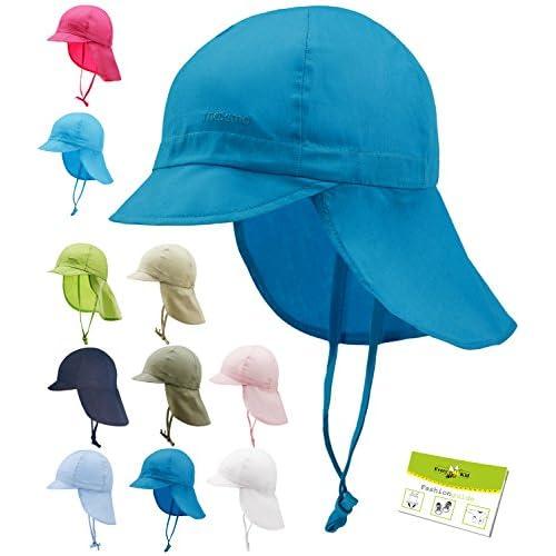a5043bf64 Maximo Sombrero De La Protección Del Cuello Uv Gorros Con Cintas Unión  Cabrito Casquillo Niño Verano