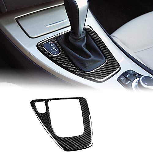 AIRSPEED Carbon Fiber Car Gear Shift Knob Panel Cover Interior Trim Stickers for BMW 3 Series E90 E92 E93 Accessories