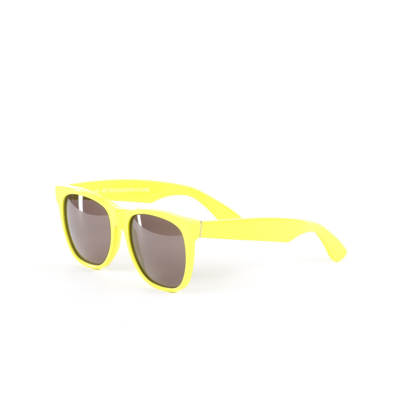 Retrosuperfuture Classic Fluroescent Yellow Fashion Sunglasses Super-014