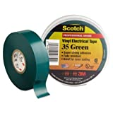 3M-Commercial Tape Div 10851 Scotch 35 Vinyl Electrical Color Coding Tape, Green - 0.75 in. x 66 ft.