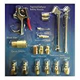 UEETEK 17pc Air Tool Compressor Blow Gun Chuck Pneumatic Accessory Accessories Kit