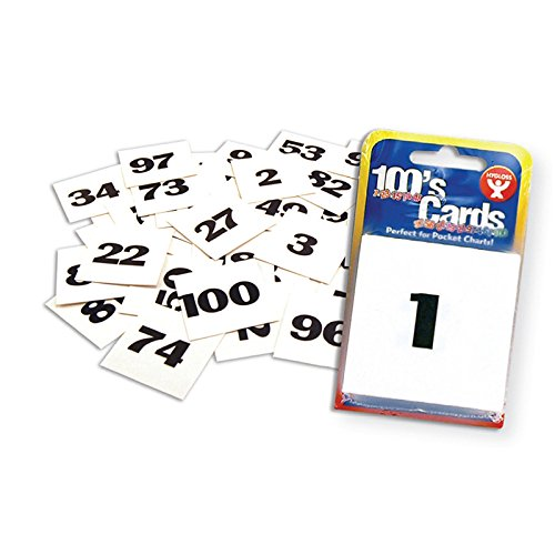 Hygloss products cards 2 x 2 numbered 1-100