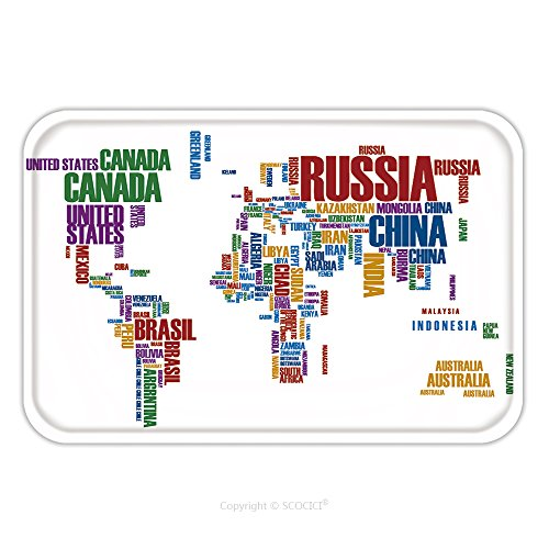 World Country Fancy Dress Costumes (Flannel Microfiber Non-slip Rubber Backing Soft Absorbent Doormat Mat Rug Carpet World Map Countries In Color Wordcloud 70697761 for Indoor/Outdoor/Bathroom/Kitchen/Workstations)