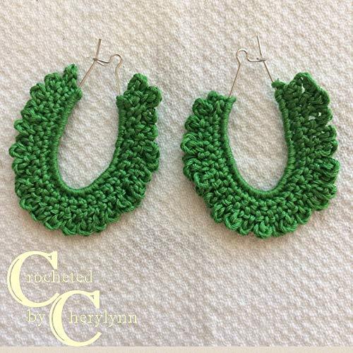 Kelly Green Ruffled Earrings