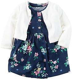 Carter\'s Baby Girls Dress Sets 121h133, Navy, 6M