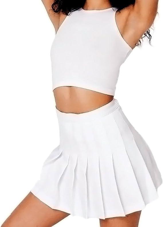 Para mujer falda Slim delgado plisado falda de tenis de alta ...
