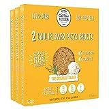 Cali'flour Foods Pizza Crust (Original Italian, 3 Boxes, 6 Crusts) - Fresh Cauliflower Base | Low Carb, High Protein, Gluten and Grain Free | Keto Friendly