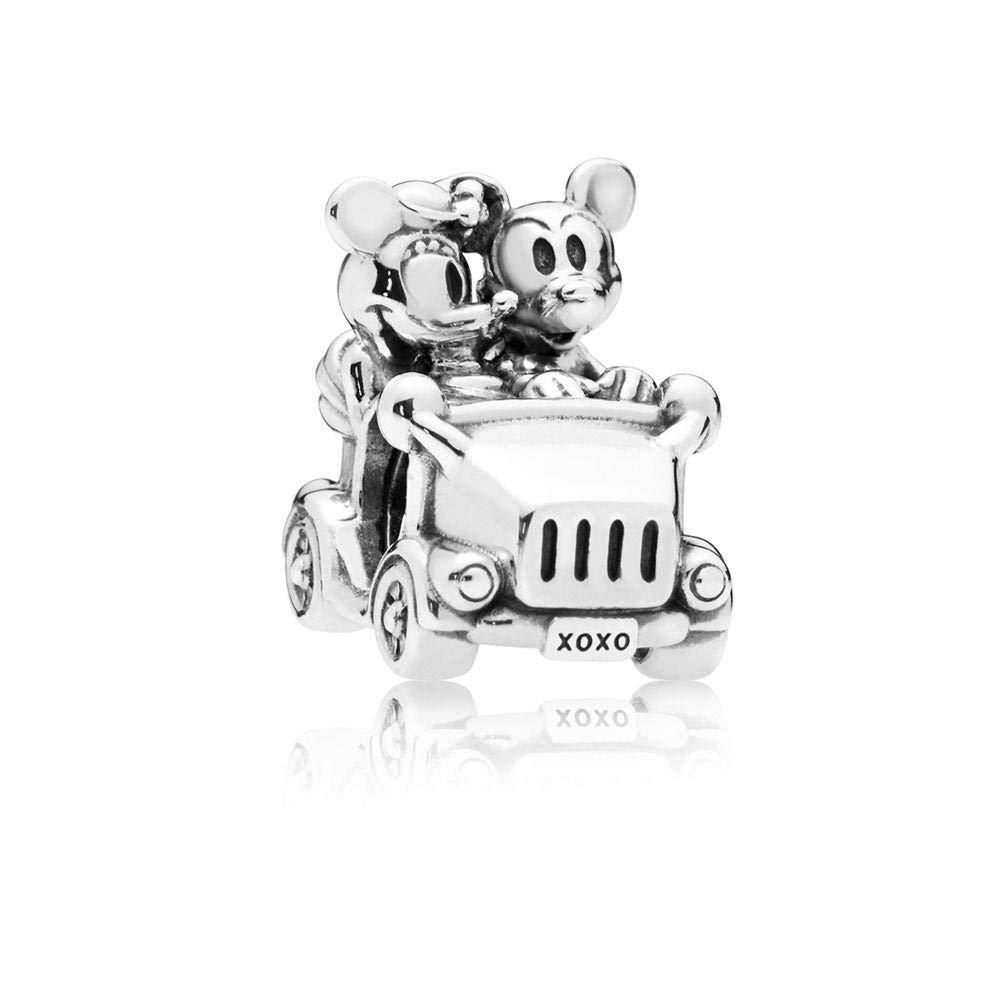 Pandora Disney Mickey and Minnie Vintage Car Silver Charm 797174 by PANDORA