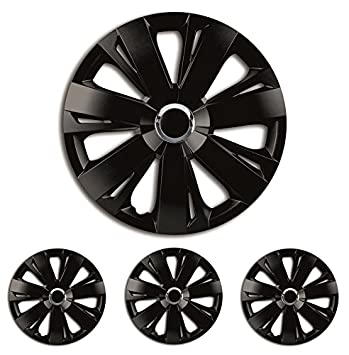 Black 15 inch Hub Caps Wheel Trims 15? R15 Universal Suitable for almost all vehicles