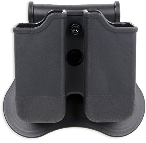 Bulldog Cases P-GM Polymer Magazine Holder, Black, Left/Right by Bulldog Cases