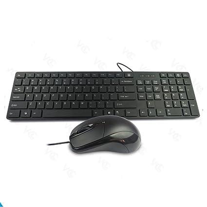 Teclado y mouse de chocolate de paquete teclado ratón configurar un puerto USB por cable teclado
