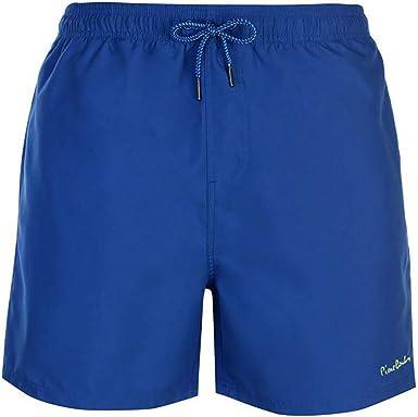 TALLA L. Pierre Cardin Pantalones Cortos de Natación Bordados de Firma