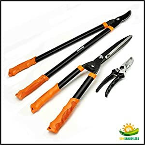 Shenso 3 piece combo garden tool set with for Gardening tools amazon
